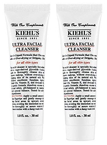 KiehIs Ultra Facial Cleanser Travel Size, Pack of 2, Total 2oz/60ml