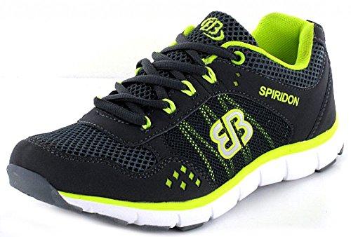 Brütting 591153 Solution - Zapatillas de running de tela para hombre Gris - Grau Kombi