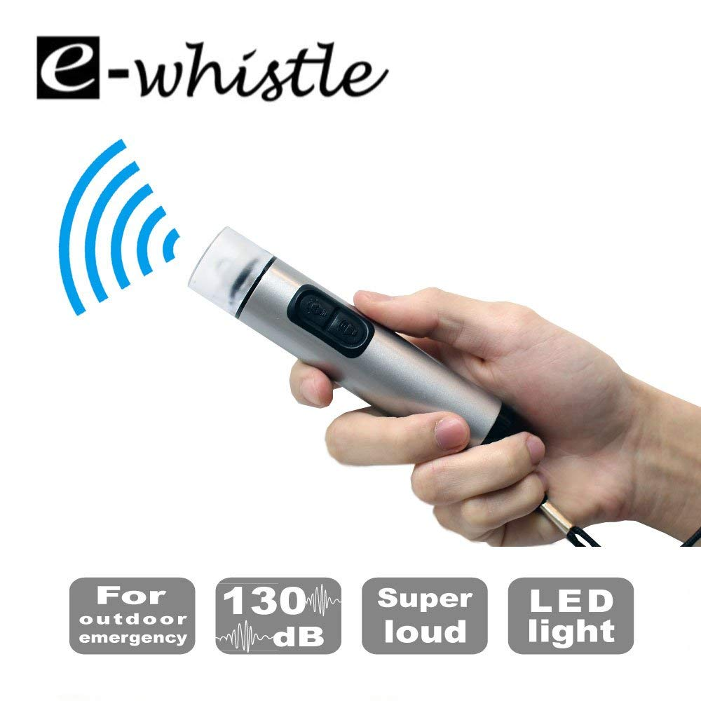 ewhistle 2-in-1 Electronic Whistle & Flashlight(Poseidon) For Hiking Camping Outdoors Survival EmergencyEarthquake Evacuation Natural Disaster Flood Tornado Hurricane Volcano Bush Fire by e-whistle