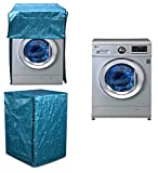 Yellow Weaves Waterproof & Dust-proof Front Load Fully Automatic Washing Machine Cover for Only 7Kg , 7.5Kg, 8Kg ( Blue Color)