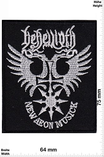 Patch - New Aeon Musick - Behemoth - Musicpatch - Rock - Vest - Iron on Patch - Embroidered Sign Applique Costume Gift - Give Away