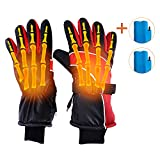 Hot Glove Electrothermal Glove Waterproof Anti-cold Electric Glove Rechargeable Motorbike Glove Bike And Bicycle Windproof Insulated Temperature Non-slip Sports Climbing Outdoor Shock Resistant Unisex For All Cold Weather,Snow & Ice Sports