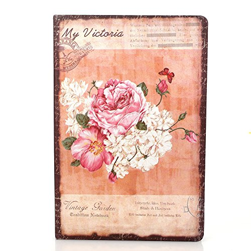 - Aprettysunny Floral Notebook Schedule Book Vintage Line Binding Cloth Home Diary Journal