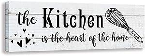 Shang Pin Elegant Signs Farmhouse Kitchen Decoration Signage, Antique Farmhouse Wall Decoration Plaque, Home Kitchen,Pantry Decoration Mural (5.5 X 16 inch, Kitchen-W)