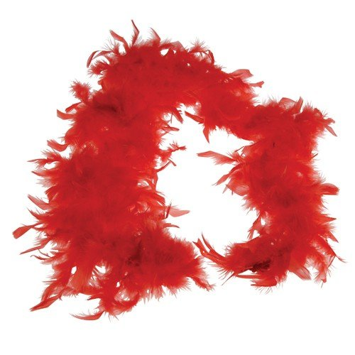 FEATHER BOA/RED