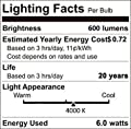 12Volts 6w Tube bulbs, 2700K/4000K, 5Pack