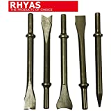Rhyas 150mm Heavy Duty Air Chisel Hammer 5 Piece Dody Panel Bit Set by Rhyas
