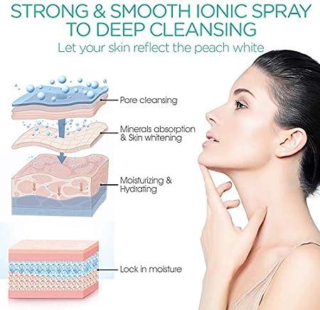 Amazon Brand - Umi Sauna Facial Vaporizador Facial Profesional Sauna Spa de vapor nanoiónico para limpieza profunda del cutis que ayuda a abrir los poros, a eliminar los puntos negros, Azul