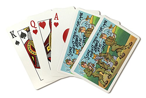 (Comical Military Cartoon - Soldier's Getting Potent Air Mail (Playing Card Deck - 52 Card Poker Size with Jokers) )