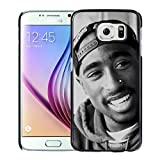Fashionable and Newest Samsung Galaxy S6 Cell Phone Case Design with Tupac Shakur (2) in Black