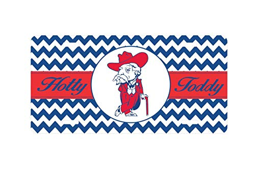 Fhdang Decor Mississippi Car Tag, Ole Miss Rebels Car Tag, Hotty Toddy, Colonel Reb, Monogrammed License Plate, Vanity Plate, Hottytoddyyall, 6