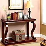 Furniture of America Prozy Classic Living Room Narrow Cherry Console Table