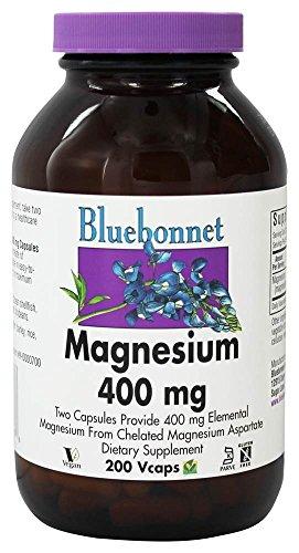 Bluebonnet Nutrition - Magnesium 400 mg. - 200 Vegetarian Ca