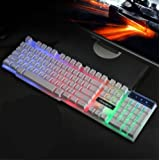 Backlit Wired Game Keyboard/Mechanical Feel,USB Connection-B