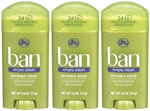 Ban Invisible Solid, Simply Clean - 2.6 oz - 3 - Men Ban For