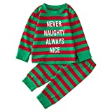 BOLUOYI Halloween Outfits for Baby Girls Newborn Boys Christmas Letter Tops Shirt+Print Pants Sets Green 70