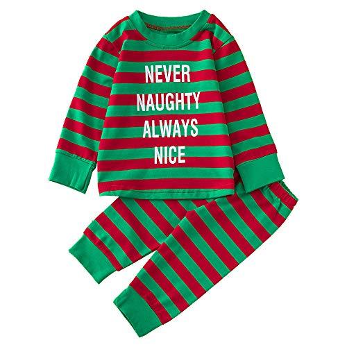 BOLUOYI Halloween Outfits for Baby Girls Newborn Boys Christmas Letter Tops Shirt+Print Pants Sets Green -
