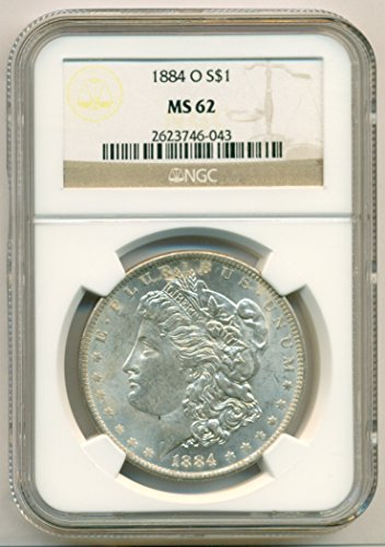 1884 O Morgan Silver Dollar MS62 NGC