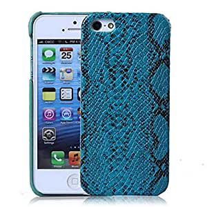 Buy Snake Skin Pattern PU Hard Case with Interior Microfiber Protection for iPhone 5/5S (Optional Colors) , White