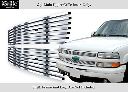 Stainless Steel 304 Billet Grille Grill Custome Fits 99-02 Silverado 1500/00-06 (Chevrolet Silverado Stainless Steel Billet)