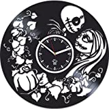 Nightmare Before Christmas Jack Song, Oogie's Revenge Vinyl Wall Clock, Best Gift for Woman, Vinyl Record, Kovides, Birthday Gift For Girl, Silent, Wall Sticker, Modern Wall Art