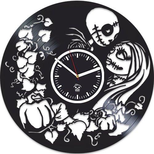 Kovides Nightmare Before Christmas Jack Song, Oogie s Revenge Vinyl Wall Clock, Best Gift for Woman, Vinyl Record, Birthday Gift for Girl, Silent, Wall Sticker, Modern Wall Art