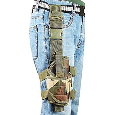 Adjustable Leg Holster,Tactical Thigh Holster for pistols camouflage with Magazine Pouch …