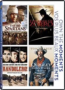 The 300 Spartans / The Mark of Zorro / Bandolero ! / Quigley Down Under (Own the Moments Feature)