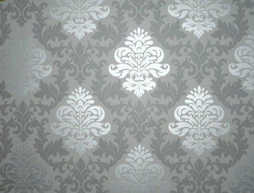 Rasch  Papiertapete Muster Ornament Silber Grau Amazon De Baumarkt