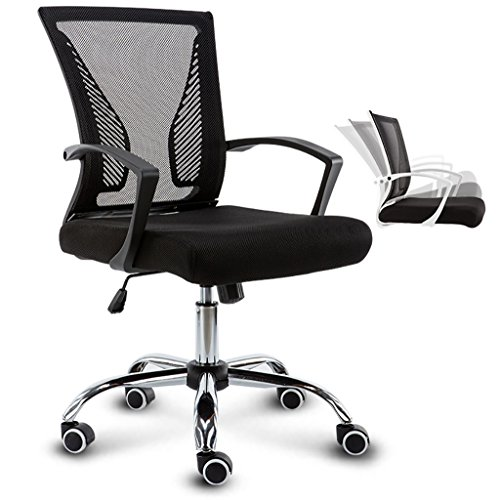 Computer Chair Office Chair Office Chair Multifunctional Belt Web Chair Rotary Lift Conference Chair Multi-color optional (Color : A) Detailed Leather Belt