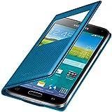 Samsung EF-CG900BEEGWW Etui S-View pour Samsung Galaxy S5 Motif Punching Bleu