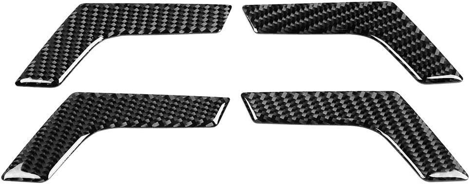 Car Door Handle Trim Sticker-4pcs Carbon Fiber Inner Interior Door Handle Trim Cover for Mercedes W204 2005-2012