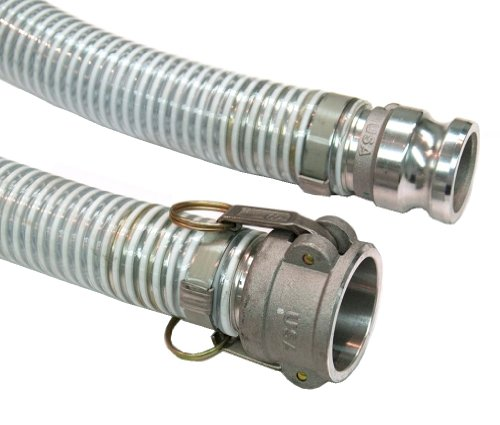 Unisource 1500 Clear PVC Suction/Discharge Hose Assembly, 2'' Aluminum Cam And Groove Connection, 29.8'' Hg Vacuum Rating 65 PSI Maximum Pressure, 20' Length, 2'' ID by Unisource (Image #2)