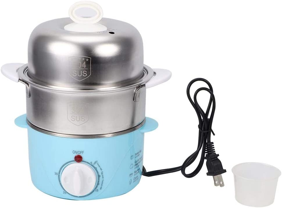 Rapid Egg Cooker Household Double Layer Electric Egg Boiler Steamer Cooker Cooking Machine Kitchen Tool With Automatic Shut Off Function US Plug 120V