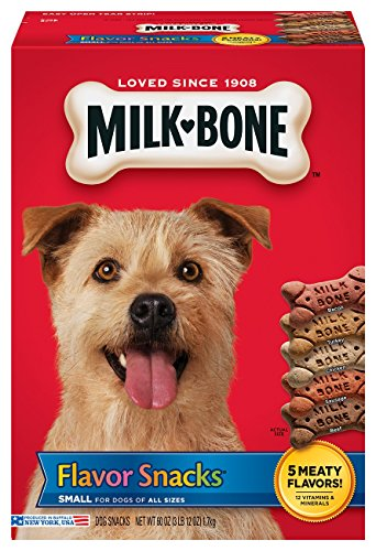 Milk-Bone Flavor Snacks Dog Treats for Dogs of all sizes, 60-Ounce (Pack of 2)