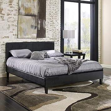 Amazon.com: Premier Zurich Queen Upholstered Platform Bed, Black ...