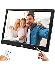 TEKXDD Digital Photo Frame, 12 Inch 1280*800 High Resolution 16:9 Display Digital Picture Frame with Touch Key, Electronic Picture Frame support Remote Control/Auto-Rotate/Image Preview /Video /Calendar Clock