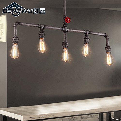 BLYC- E27 retro Bar, Restaurant und Kreativwirtschaft Stil Decke Lampe Röhre Deckenleuchte Eisen Cafe 990 * 580mm