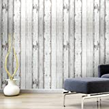 Arthome 31.6 Square Feet Distressed Wood Decorative Self-Adhesive Peel and Stick Wallpaper Décor (200-1)