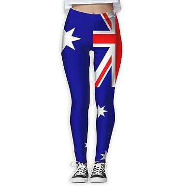 c2c218b67c Amazon.com: ZZATAA Flag Of Australia Elastic Waist Pencil Yoga Pants ...
