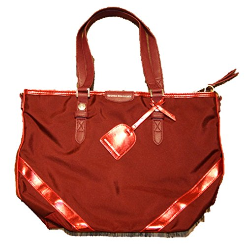 George Gina & Lucy The Lucy Romance Nylon Rich&Liz Handbag red