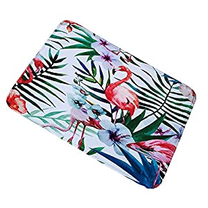 Tropical Leaves Printed Anti-sliding Bedroom Door Mats Kitchen Bathroom Floor Mat Area Rugs Cyber Monday Deals Week