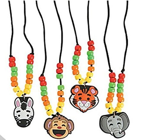 - 12 - zoo animal necklace craft kits