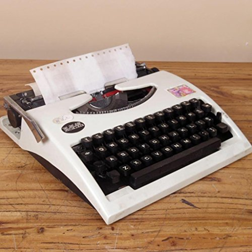 Máquina de escribir Typewriter, 80 s Retro Antique Vintage English Typewriter Normal Use Portable: Amazon.es: Hogar