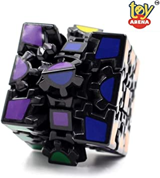 Toy Arena Twisty Puzzle Magic Combination 3X3 Magic Gear Black Base Stickerless Cube