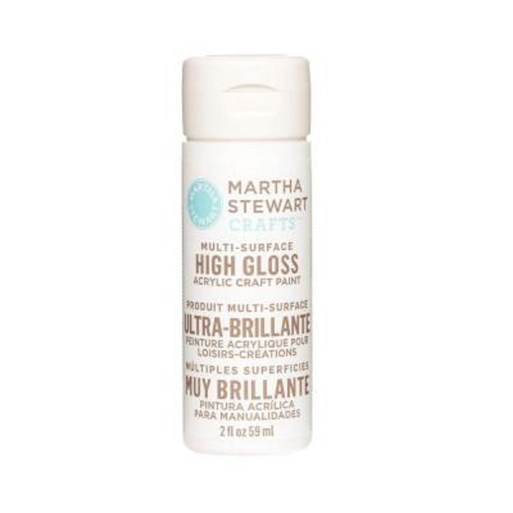 Martha Stewart Crafts Multi-Surface High Gloss Acrylic Craft Paint in Assorted Colors (2-Ounce), 32100 Wedding Cake