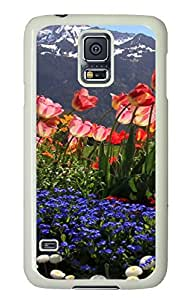 Brian114 Samsung Galaxy S5 Case, S5 Case - Customized White Hard Back Case Cover for Samsung Galaxy S5 Flowers World 2 Top Quality Hard Case for Samsung Galaxy S5 I9600