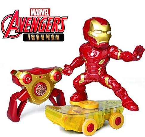 MODELTRONIC Coche RC superhéroes Patinete RC de Iron Man Giratorio Skateboard Marvel Avengers Oficial 2.4Ghz RTR: Amazon.es: Juguetes y juegos