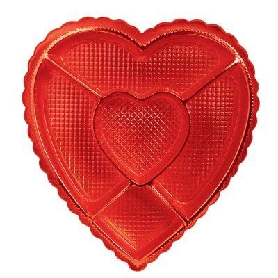 Amazon Com Valentines Day Candy Box Heart Shaped Box W Sections