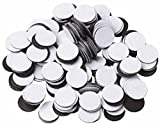 100 Round Self Adhesive Magnetic Circles .5'' Diameter 4 mil Magnets Arts and Crafts School Magnet Dot Tape New Cute Self-adhesive